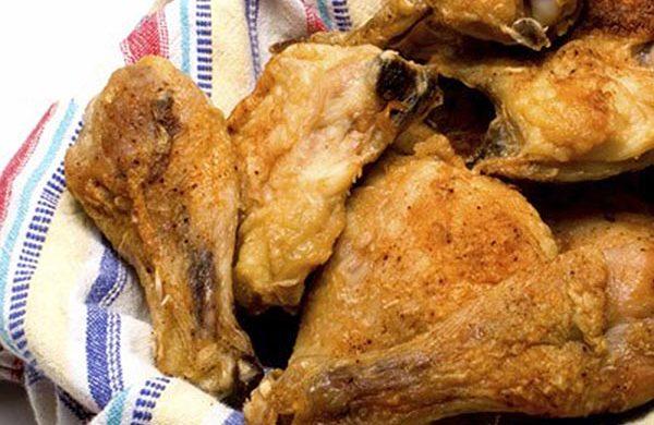 Cosce di pollo fritte